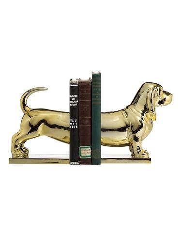 Warm Design Altın Köpek Kitap Düzenleyicisi Altın